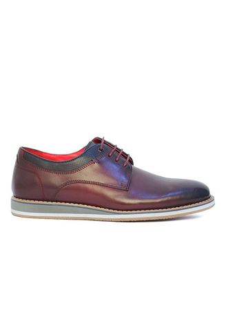 Red color Casual Shoes . Gino Mariani Tyrell Smart Casual Shoes -