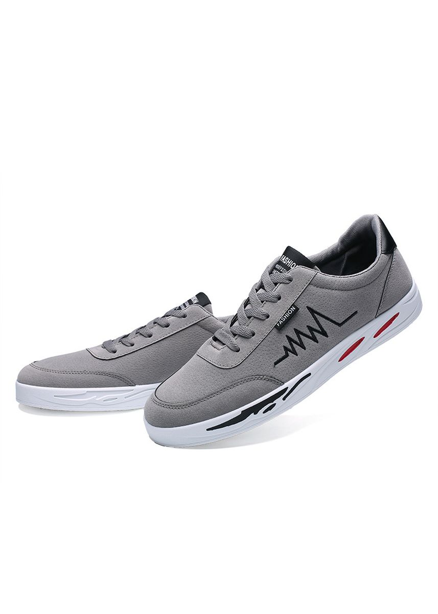 Grey color Casual Shoes . Men's Lightweight Flexible Low-Top Leisure Board Shoes -
