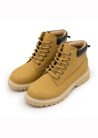 Yellow color Boots . Men And Women To Restore Ancient Ways British Martin Boots -