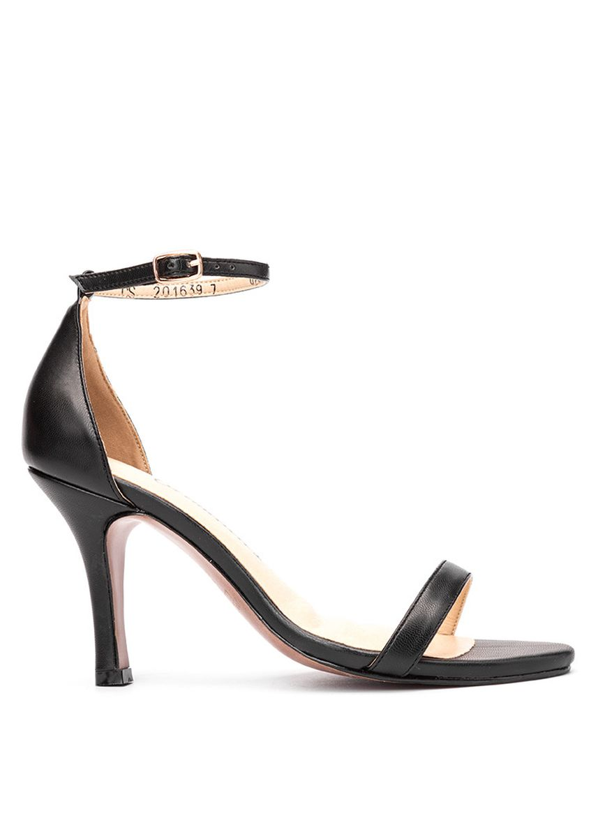 Black color Heels . Carmelletes High Heeled Ankle Strap Sandals -
