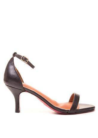 Black color Heels . Carmelletes Mid-Heeled Ankle Strap Sandals -