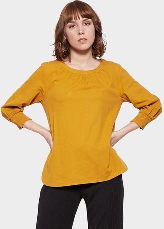 Yellow color Tops and Tunics . SIMPLICITY Blouse Texture -