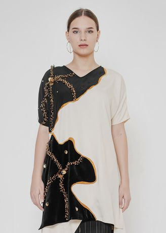 White color Tops and Tunics . ROCCO TOP -