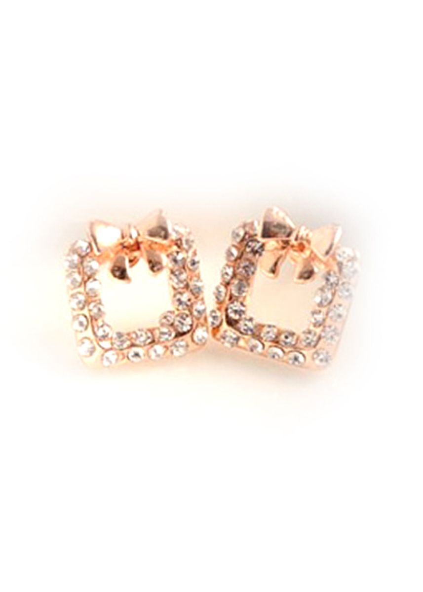 Emas color  . Fleur Earring jan158 -