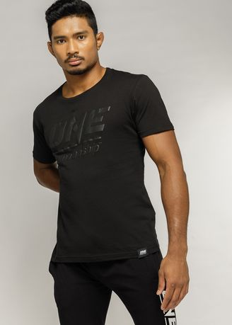 . ONE Unisex Black Logo T-Shirt -