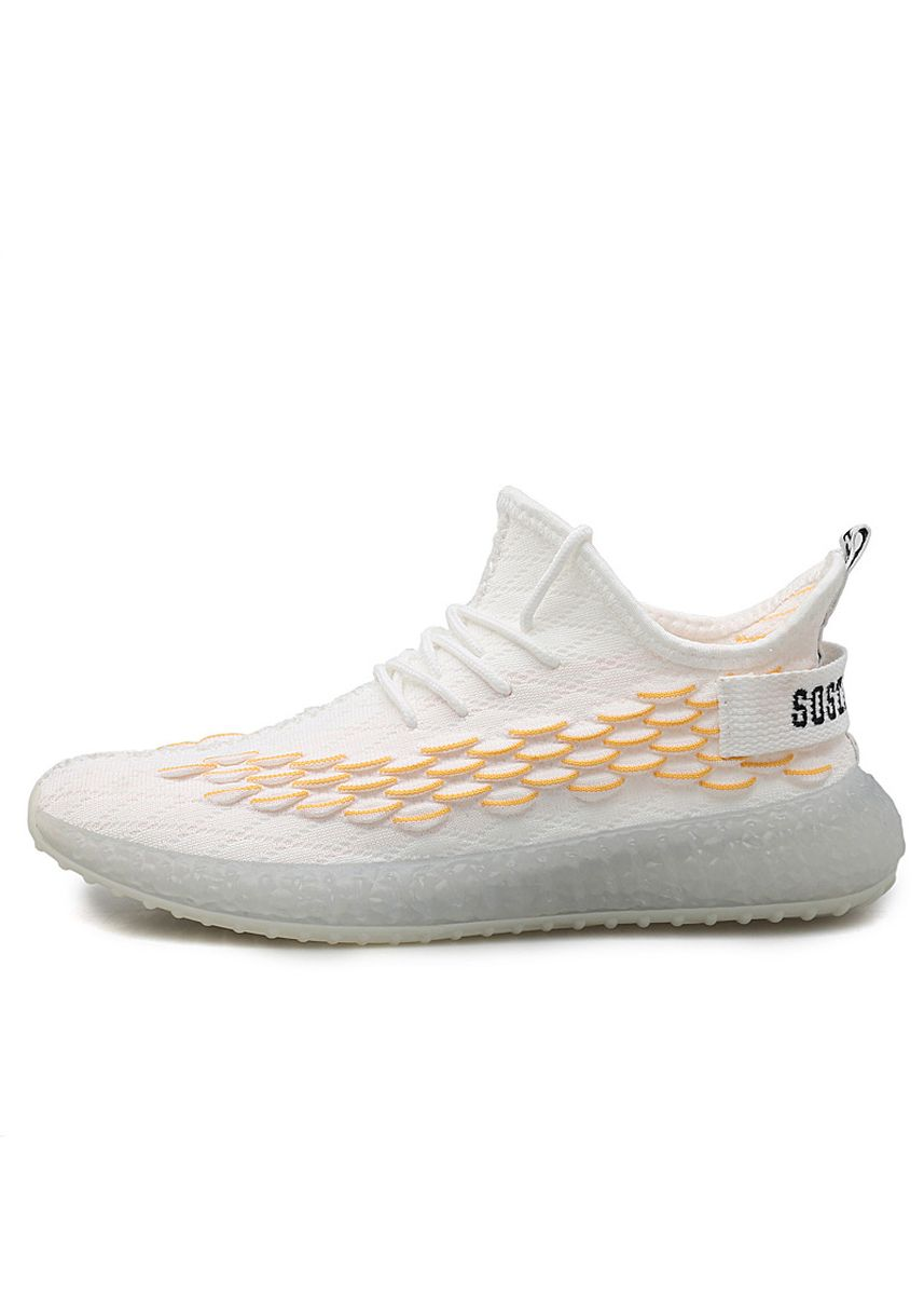 Yellow color Sports Shoes . Men Casual Sport Flying Weaving Shoes  -