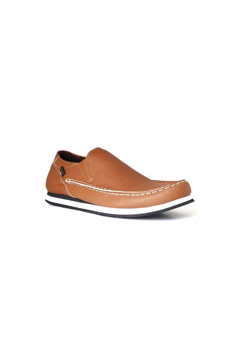 Orange color Casual Shoes . sepatu slipon casual pria -