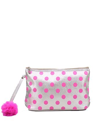 Purple color Wallets and Clutches . Silvertote Polki Pouch -