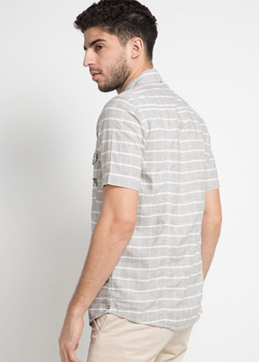 Grey color Casual Shirts . EMBA CLASSIC-Loi Men's Shirt in Grey -