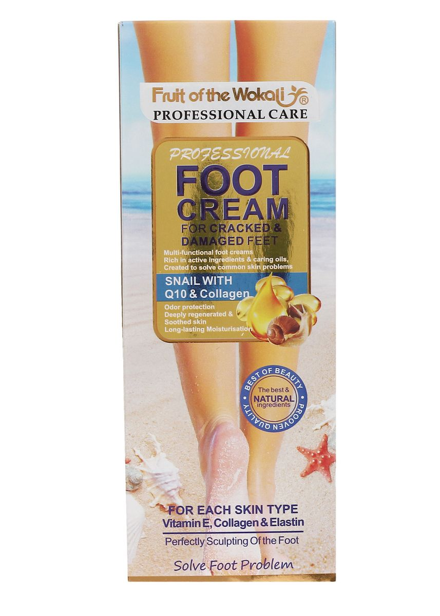 No Color color Other . Wokali Foot Cream Snail With Q10 And Collagen, 130ml -