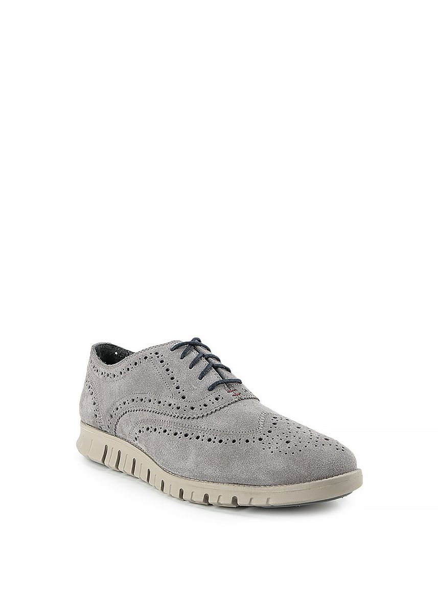 Grey color Casual Shoes . GINO MARIANI ZENON Exclusive Genuine Leather Casual Men's Shoes -