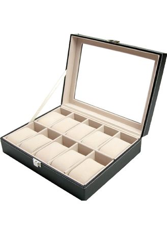 Watch Cases . 10 Slots Leather Watch Storage Display Box -