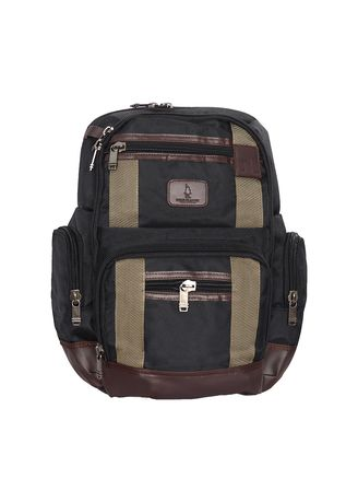 Hitam color Ransel . Polo Classic Backpack 1608-7 Black -