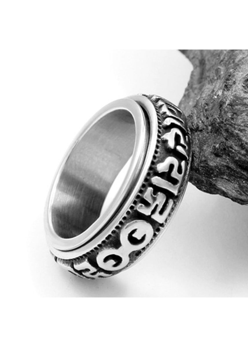 Silver color Rings . Creative Can Turn Men's Stainless Steel Ring -