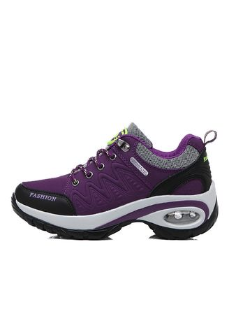 Purple color Sports Shoes . Women's Outdoor  Sports Sneakers Air cushion damping Walking Shoes -