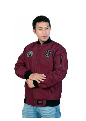 Maroon color Outerwear . bomber jacket rebel ID navy maroon -