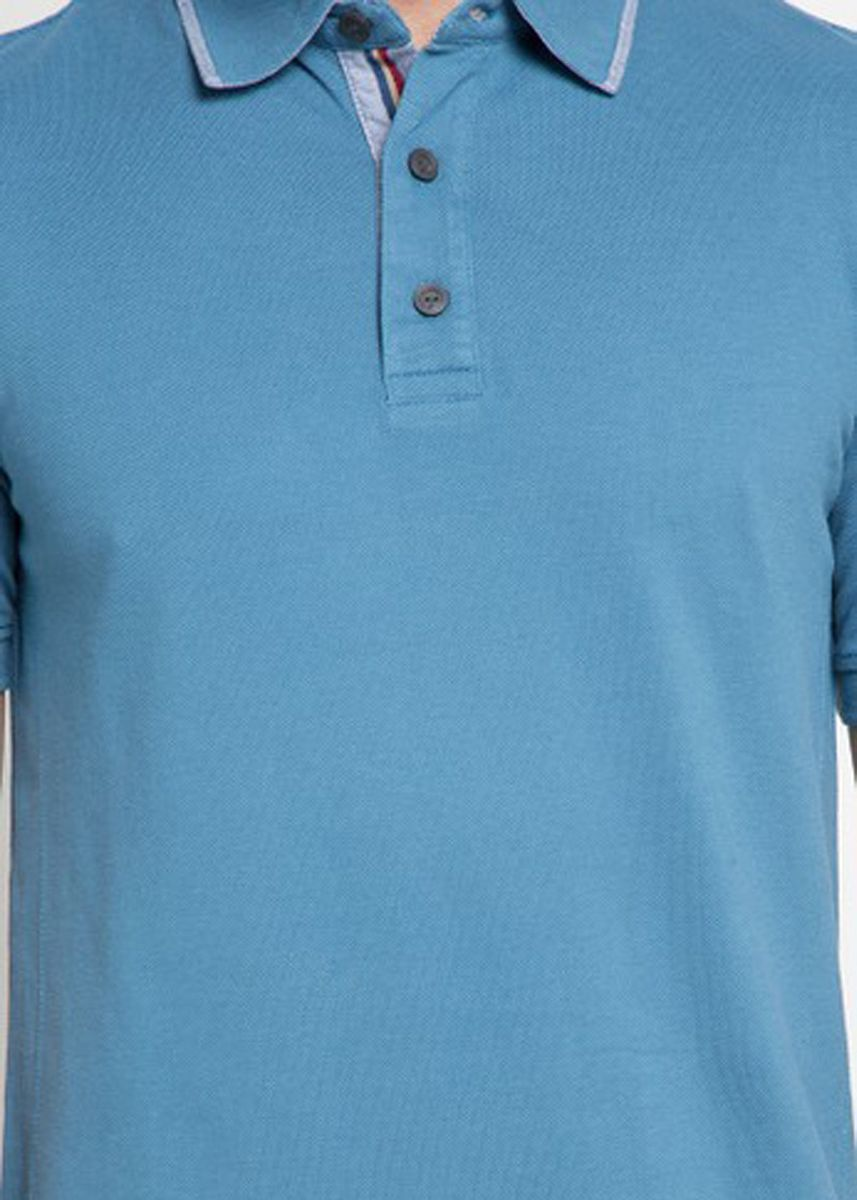 Blue color T-Shirts and Polos . EMBA CLASSIC-Antonio Polo -