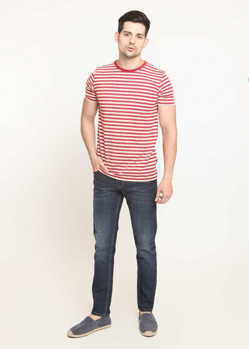 Grey color Jeans . 2Nd RED Jeans Pria Bagus Jeans Slim Fit Fashion Premium Best Quality Warna Abu Tua 133274F -