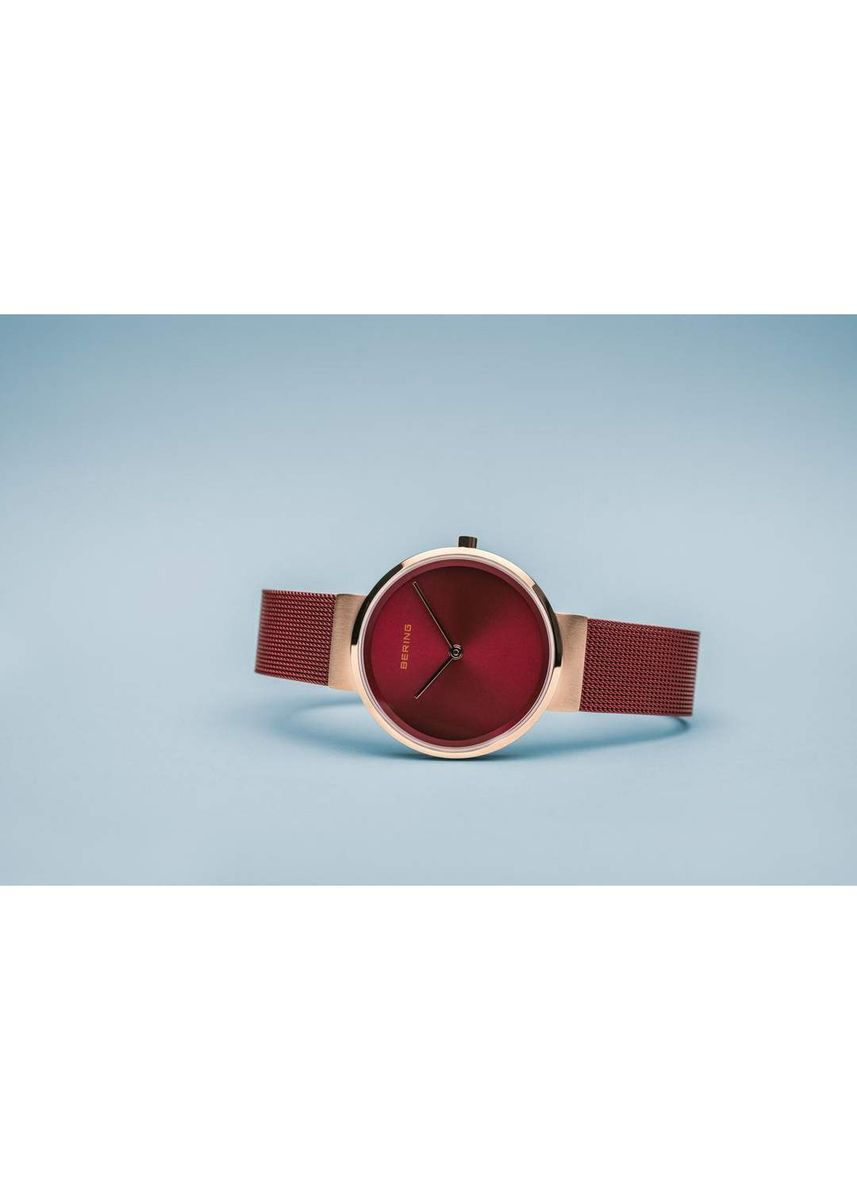 Red color Analog . Bering Classic Red 31mm Women's Watch 14531-363 -