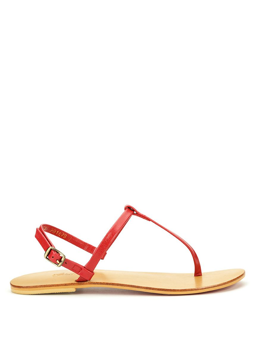 Red color Flats . Carmelletes Leather Sandals -