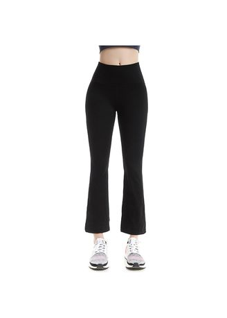 Black color Trousers . Flared Yoga Pants -