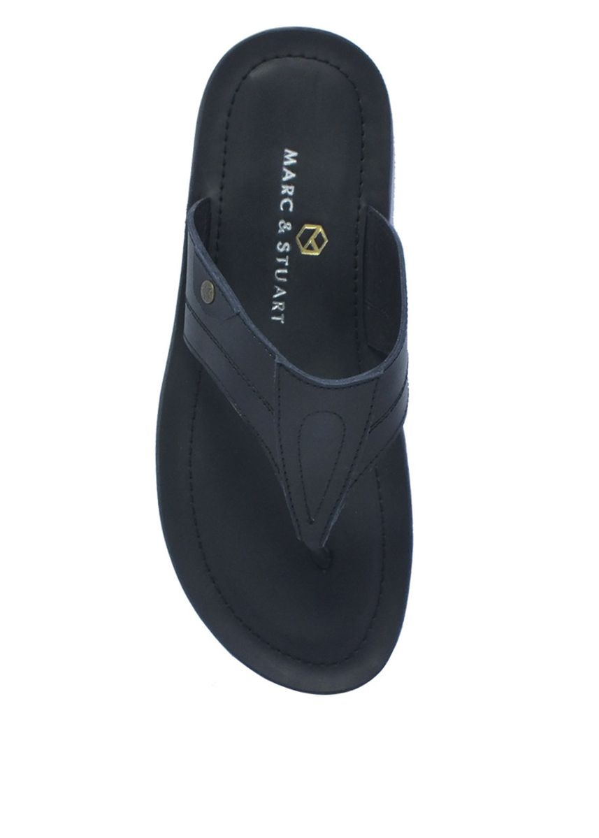 Black color Sandals and Slippers . Casual Thong Sandals in Black -
