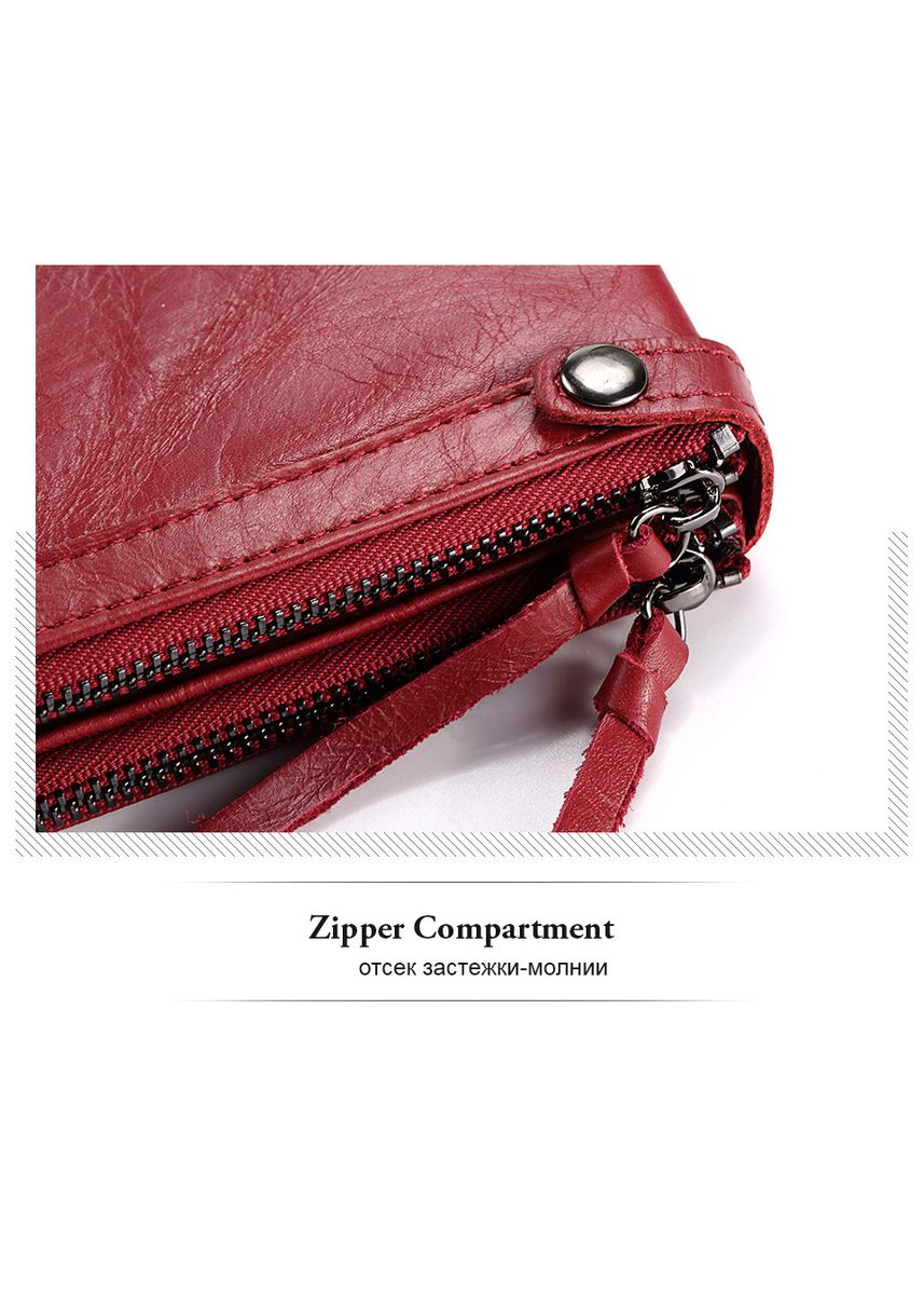 Red color Wallets and Clutches . Genuine Leather Ladies Wallet -