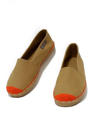 Tan color Casual Shoes . Southern Comfy Tla Mocha Canvas Shoes For Women  -