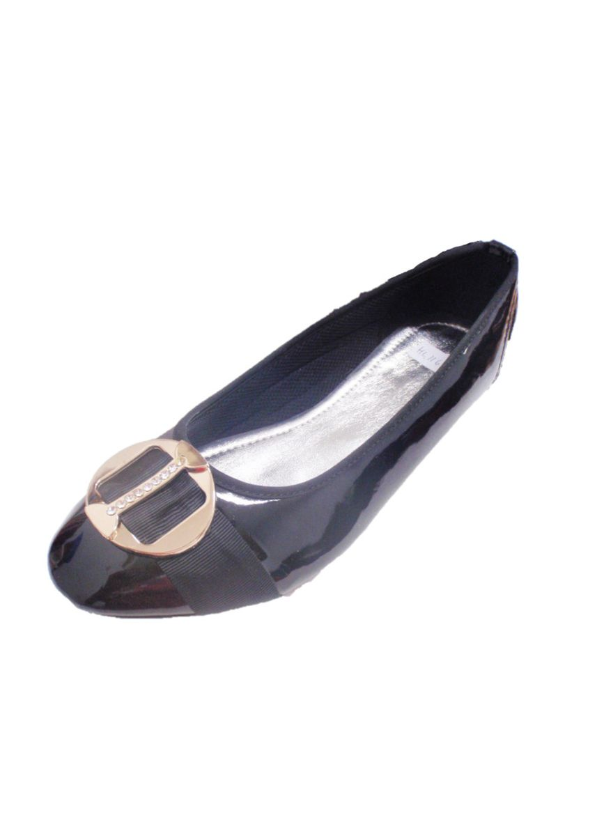 Black color Flats . Flat Shoes Thalia -
