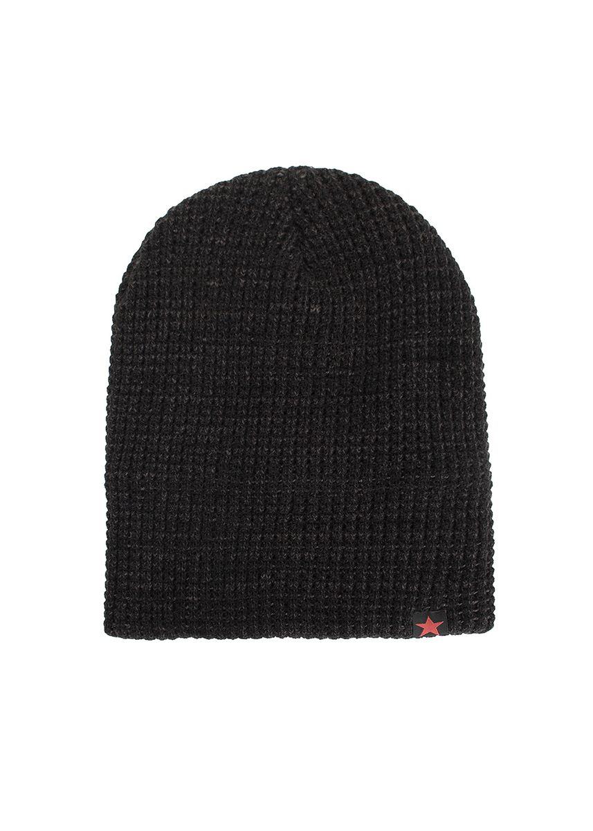 ดำ color  . Unisex Winter Knit Wool Warm Hat Thick Soft Stretch Slouchy Beanie Cap -