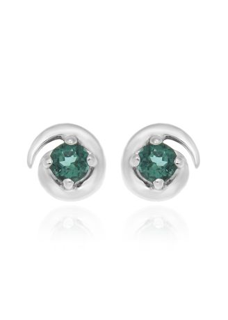 Green color  . Jewelry Buffet Sterling Silver 93% ต่างหูเงินแท้ 93%  -
