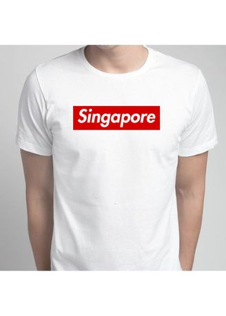 White color T-Shirts and Polos . Singapore NDP T-Shirt -