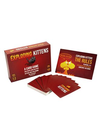 Multi color Toys . Toys World Exploding Kitten Classic Version Card Game -