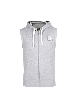 เทา color แจ็คเก็ต . BAD BOY Core Sleeveless Hoodie - Grey -