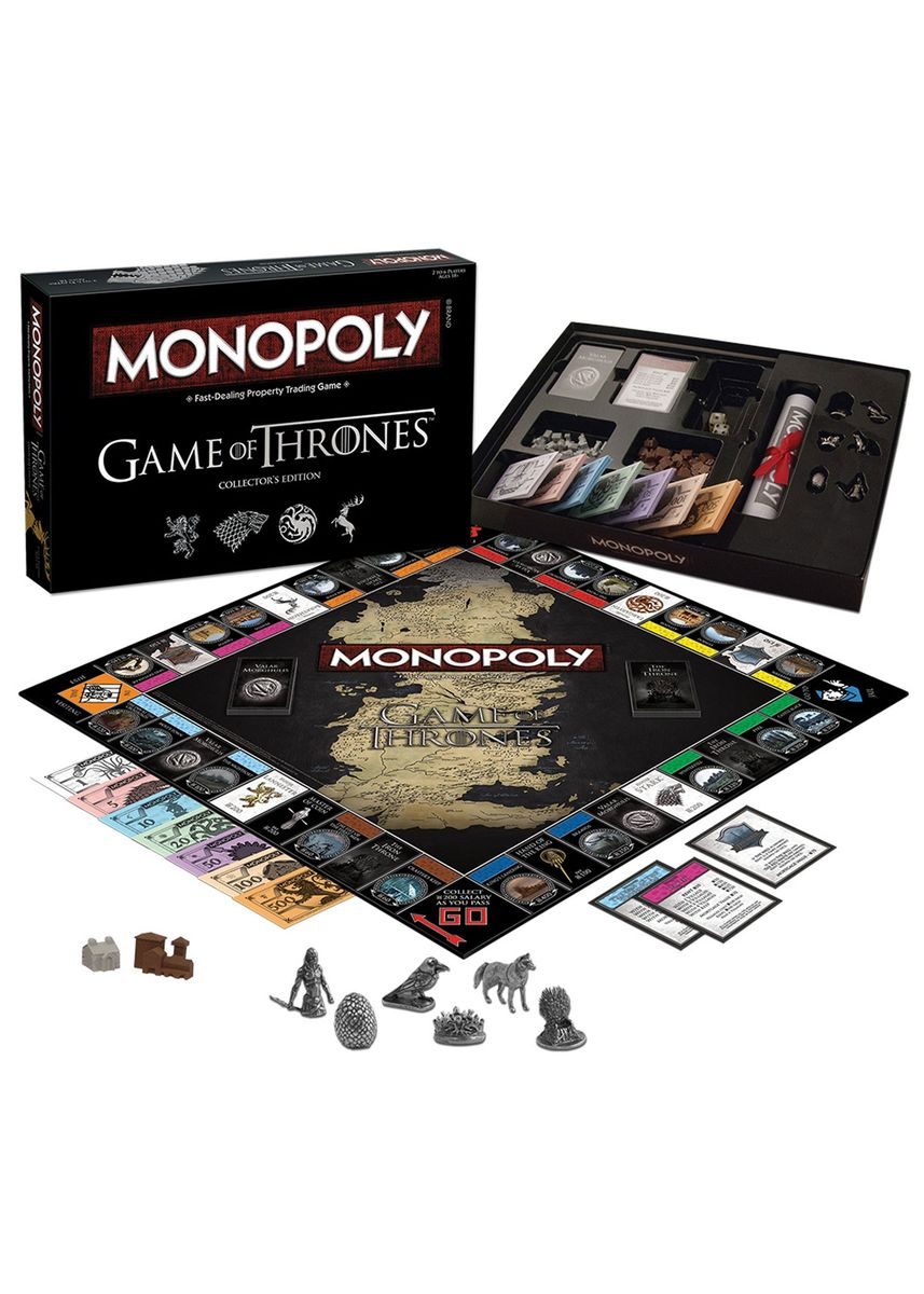 Multi color Toys . Toy's World Monopoly: Game Of Thrones Collector's Edition Board Game -