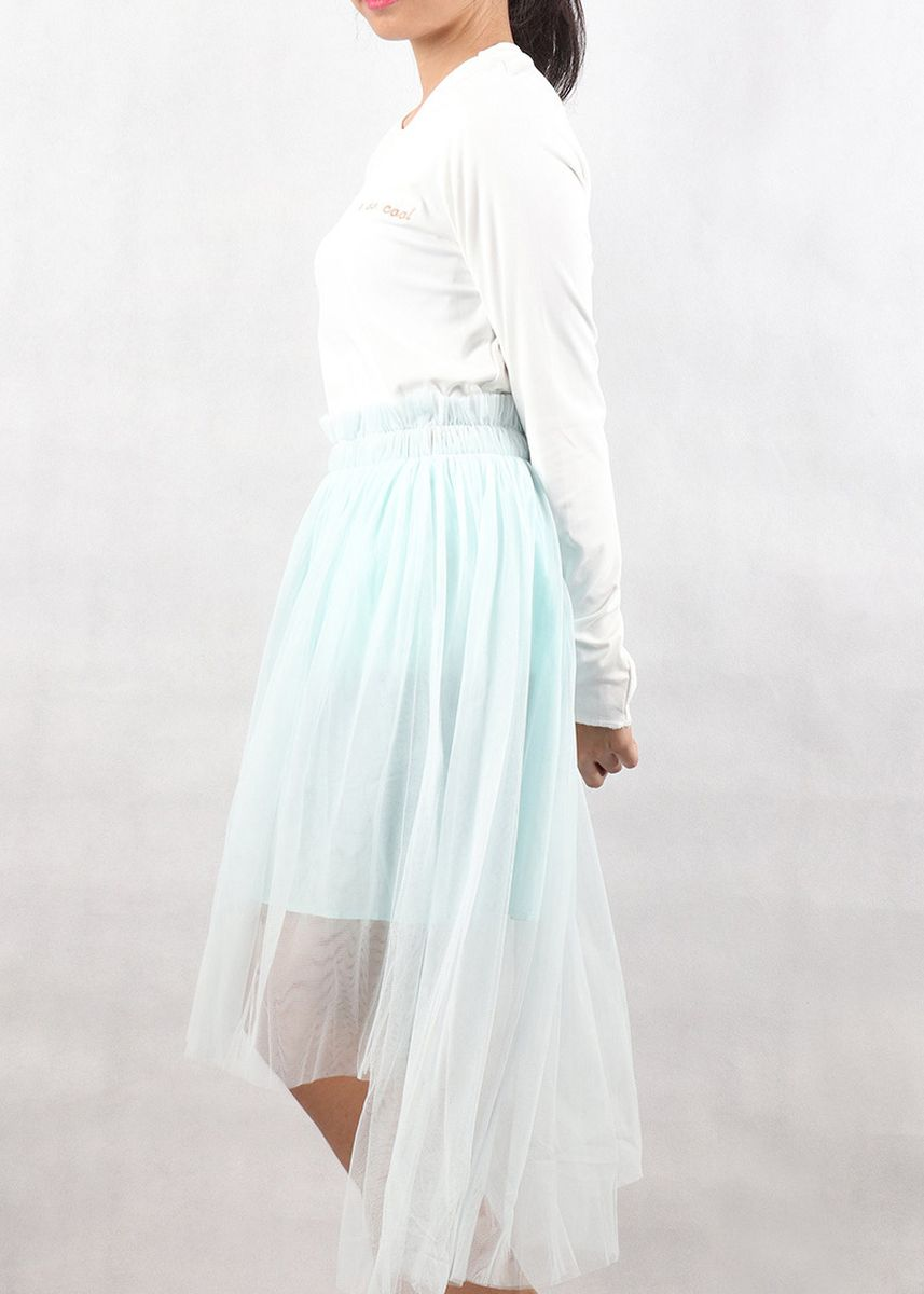 Light Blue color Skirts . Mogao Fashion Skirt -