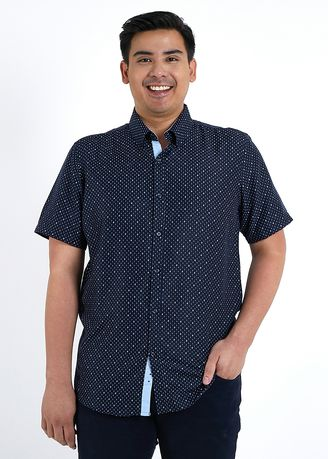 Casual Shirts . IDENTITY Heritage Series Men's Wear Short Sleeve Button Down Printed Casual Shirt -