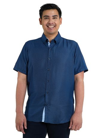 Blue color Casual Shirts . IDENTITY Heritage Series Men's Wear Short Sleeve Button Down Printed Casual Shirt -