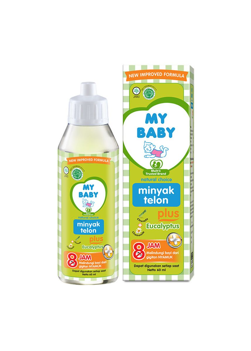 No Color color Body Cream & Oil . My Baby Minyak Telon [8 Hours] - 145ml -