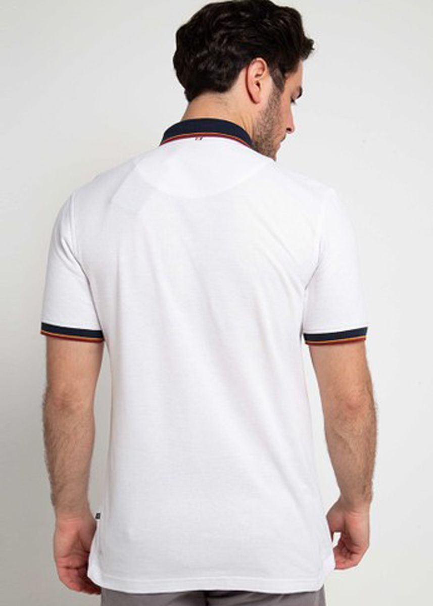 White color T-Shirts and Polos . EMBA CLASSIC-Mateo Polo -