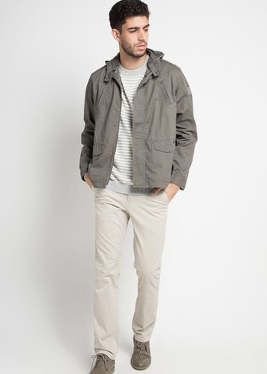 Khaki color Jaket & Coat . EMBA CLASSIC-Bruno Air Jacket -