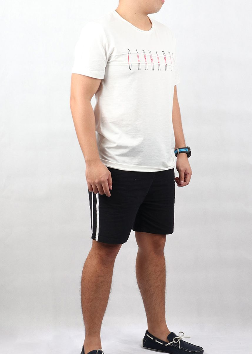 White color T-Shirts and Polos . Mogao Men's T-Shirt -