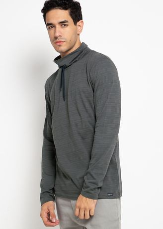 Grey color T-Shirts and Polos . Cressida Turtle Neck T-Shirt K289 -
