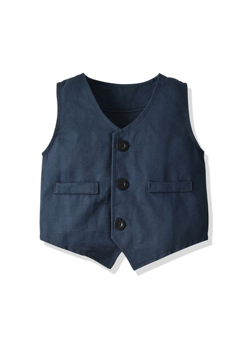 มัลติ color ชุด . Waistcoat Shirt  Long-sleeved Casual Pants -