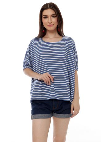 Navy color Tops and Tunics . Yoenik Apparel Oversize Rubber Tops Navy M15190 R9S3 -