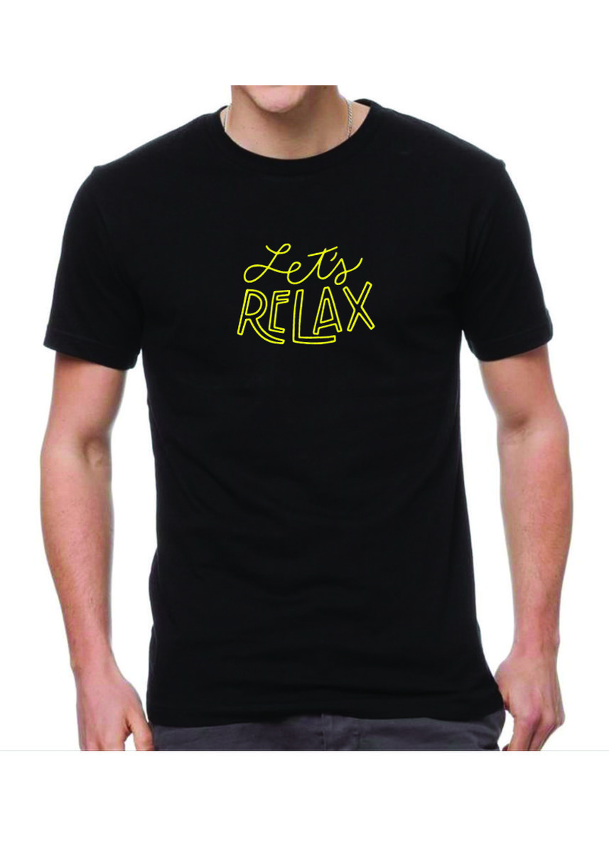 Black color T-Shirts and Polos . Jual Kaos katun import let relax -