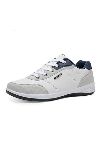 ขาว color รองเท้าลำลอง . Men's Lightweight Fashion Business Casual Shoes -