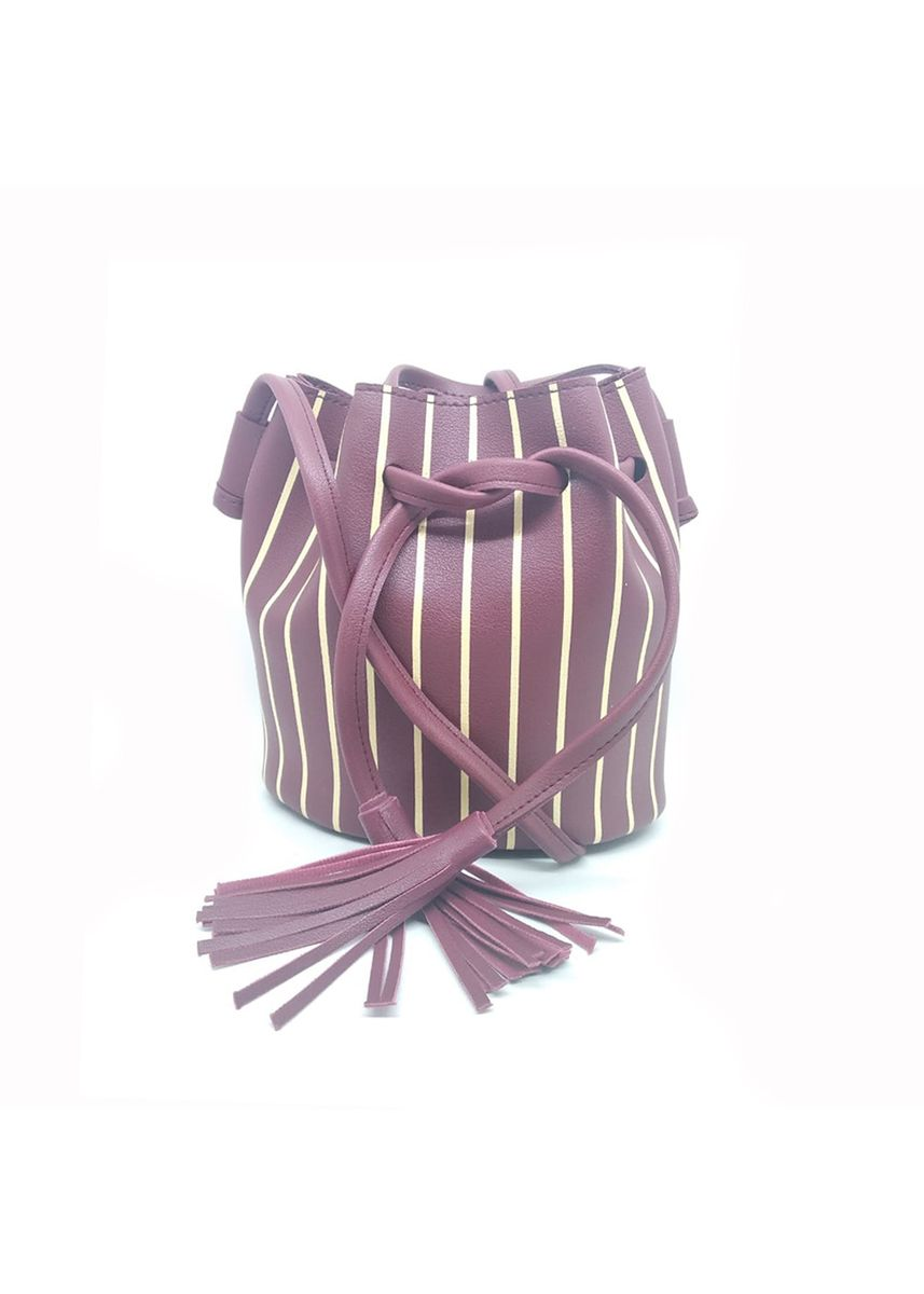 Maroon color Tas Selempang . MYNT by Mayonette Stripy Sling Bag -