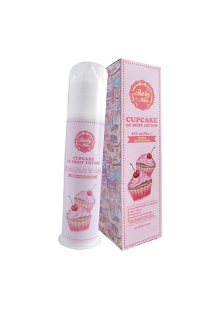 Pink color Whitening & Brightening . Baby Kiss CC Body Lotion 140ml. -