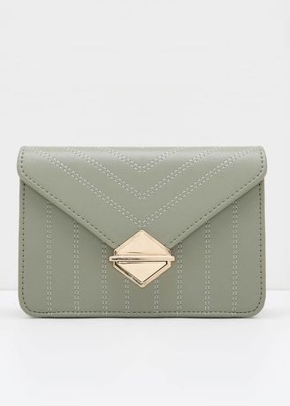 Green color Sling Bags . Berrybenka Hailey Avva Quilted Sling Bags Green -